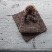 Комплект шапка-бини и снуд