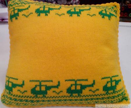 Диванная именная подушка ручной работы на заказ