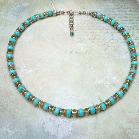 """Ожерелье """"Лагуна"""" ручной работы на заказ"""