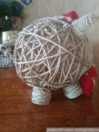 Свинья - символ 2019 года ручной работы на заказ