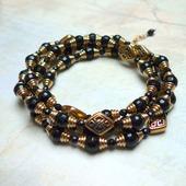 Ожерелье-трансформер с Чёрным Ониксом (ожерелье/браслет)