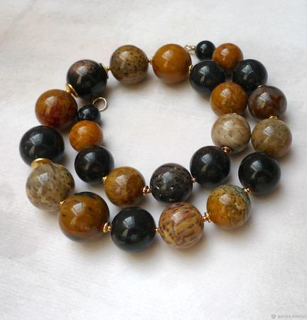 Ожерелье из Окаменелого дерева ручной работы на заказ