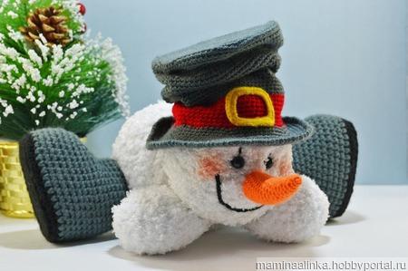 Растаявший снеговик ручной работы на заказ
