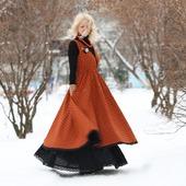 Платье-сарафан в стиле бохо