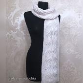 Вязаный шарф «Метель» из полушерсти