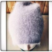 Шапочка бини из пуха ангорского кролика