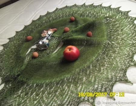 """Шаль """"Оливковая Роща"""" ручной работы на заказ"""