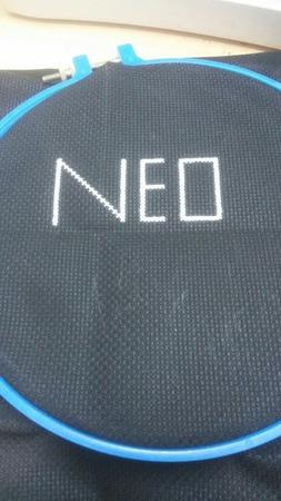 Картина вышитая крестом NEO ручной работы на заказ