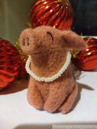 Валяная игрушка Ефросинья Петровна ручной работы на заказ