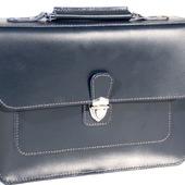 Портфель-сумка женский кожаный ручной работы