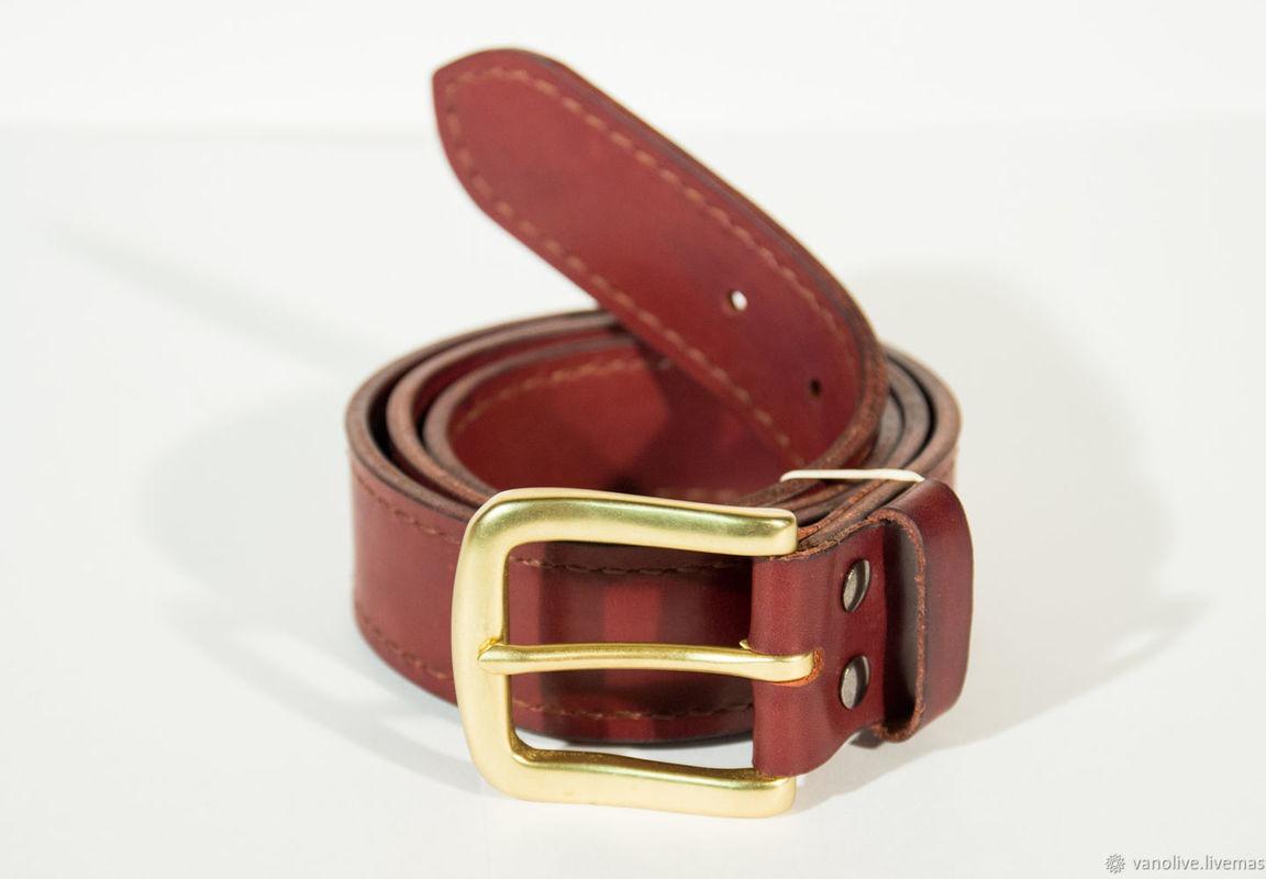 7ba62212b305 Ремень ручной работы из натуральной кожи с прошивкой ручной работы на заказ