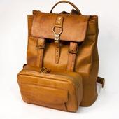 Кожаный рюкзак с подсумком