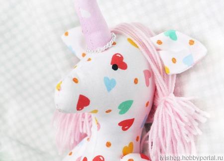 Единорог мягкая игрушка для детских игр ручной работы на заказ