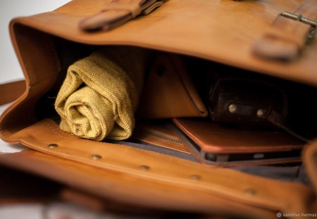 Кожаный рюкзак с подсумком ручной работы на заказ