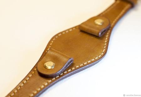 Кожаный ремешок для часов ручной работы ручной работы на заказ