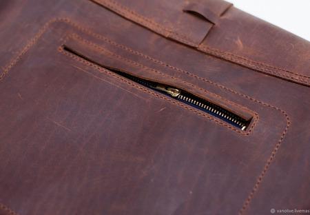Сумка из натуральной кожи крейзи хорс ручной работы ручной работы на заказ