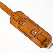 Кожаный ремешок для часов с подложкой