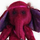 """Тедди слоник """"Малинка"""" + подарок текстильное сердце"""