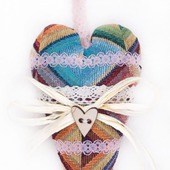 """Интерьерная подвеска для декора или фотосессий """"Текстильное сердце"""""""