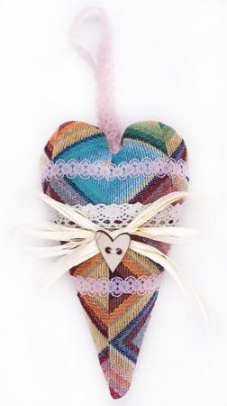 """Интерьерная подвеска для декора или фотосессий """"Текстильное сердце"""" ручной работы на заказ"""