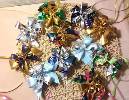 Банты для упаковки новогодних подарков ручной работы на заказ