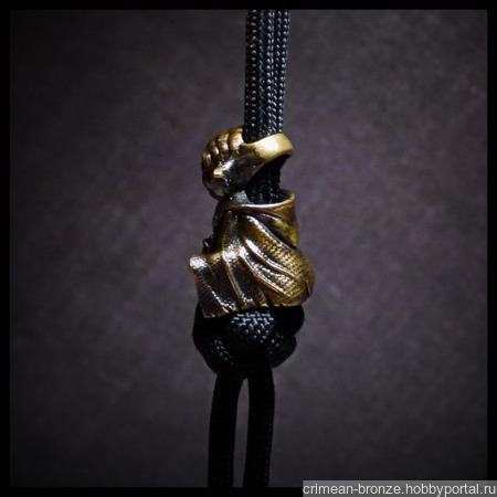 """Бусина """"Мастер Йода"""" для темляков или браслетов ручной работы на заказ"""