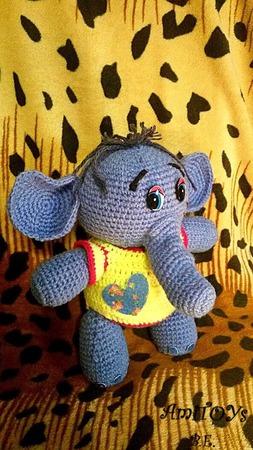Застенчивый слон ручной работы на заказ