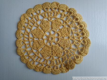 Жёлтая салфеточка ручной работы на заказ