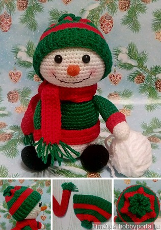 Снеговик в шапке ручной работы на заказ