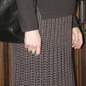 """Вязаная коричневая юбка ажурная """"Вафелька"""""""