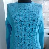 """Пуловер """"Голубые подснежники"""""""
