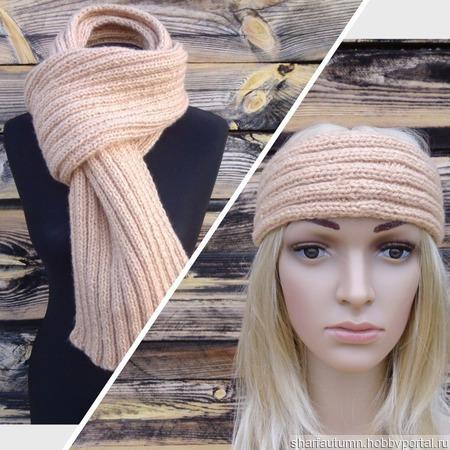 Шарф и повязка на голову ручной работы на заказ