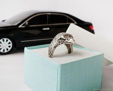 """Перстень """" Орлиный взгляд"""" ручной работы на заказ"""