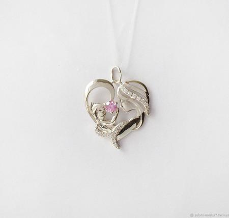 """Серебряная подвеска """"Ты в сердце моем навсегда """" ручной работы на заказ"""