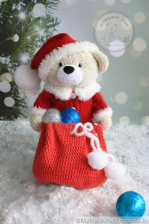 МК Рождественский Мишка ручной работы на заказ