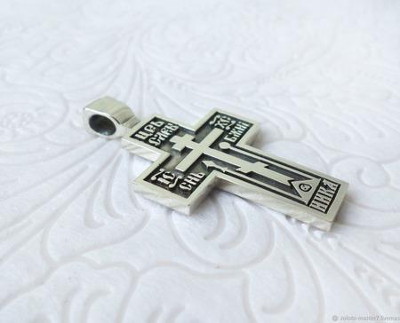 Крест старообрядческий ручной работы на заказ