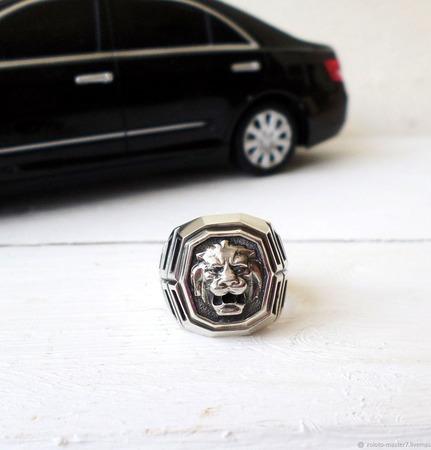 """Кольцо мужское """"Тигр 2"""" ручной работы на заказ"""