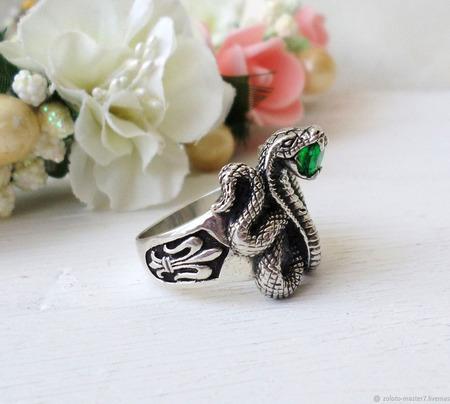 """Кольцо """"Змея"""" ручной работы на заказ"""
