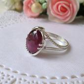 Серебряное колечко  с природным рубином