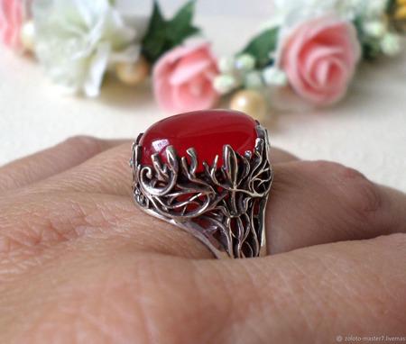 Винтажное кольцо с турмалином ручной работы на заказ