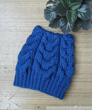 Женская шапка с косами ручной работы на заказ