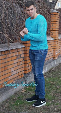 "Авторская туника мужская ""Посейдон"" ручной работы на заказ"