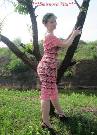 """Платье """"Сливочный крем"""" ручной работы на заказ"""