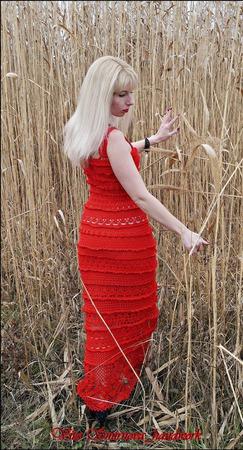 "Платье ""Lady in Red"" ручной работы на заказ"
