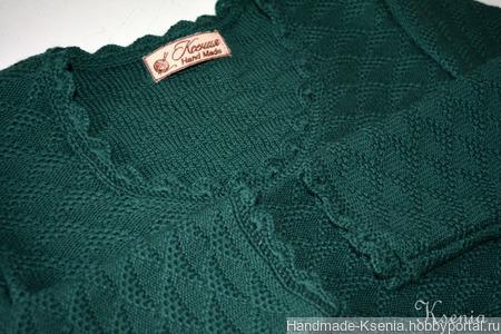 Вязаное платье из мериноса ручной работы на заказ