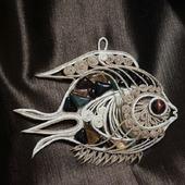 """Рыбка """"Морская"""", рыба из джута для Екатерины"""