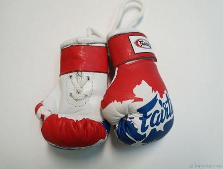 Перчатки Боксерские, сувенир, логотип,  подарок мужчине 23 февраля ручной работы на заказ