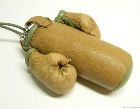 Перчатки Боксерские + груша, сувенир, подарок мужчине, 23 февраля ручной работы на заказ