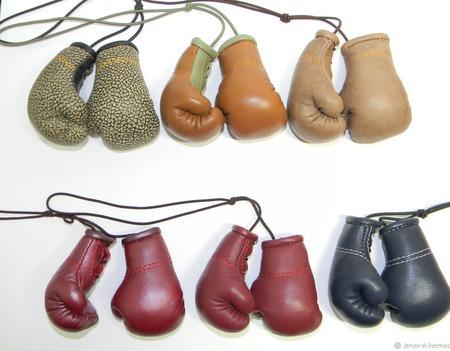 Перчатки Боксерские  сувенир,  подарок мужчине ручной работы на заказ