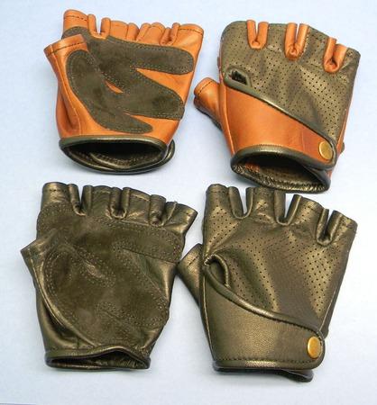 Перчатки из кожи без пальцев, кожаные перчатки для водителя, митенки ручной работы на заказ